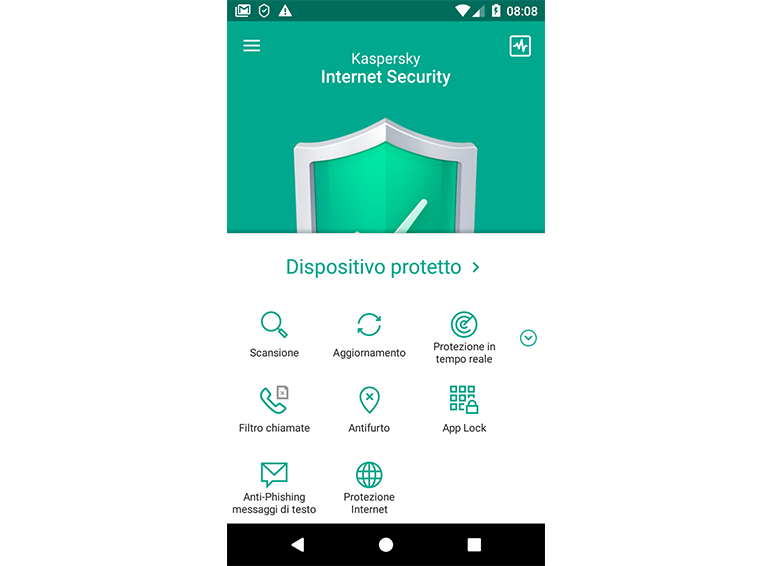 Kaspersky Internet Security for Android Screenshot