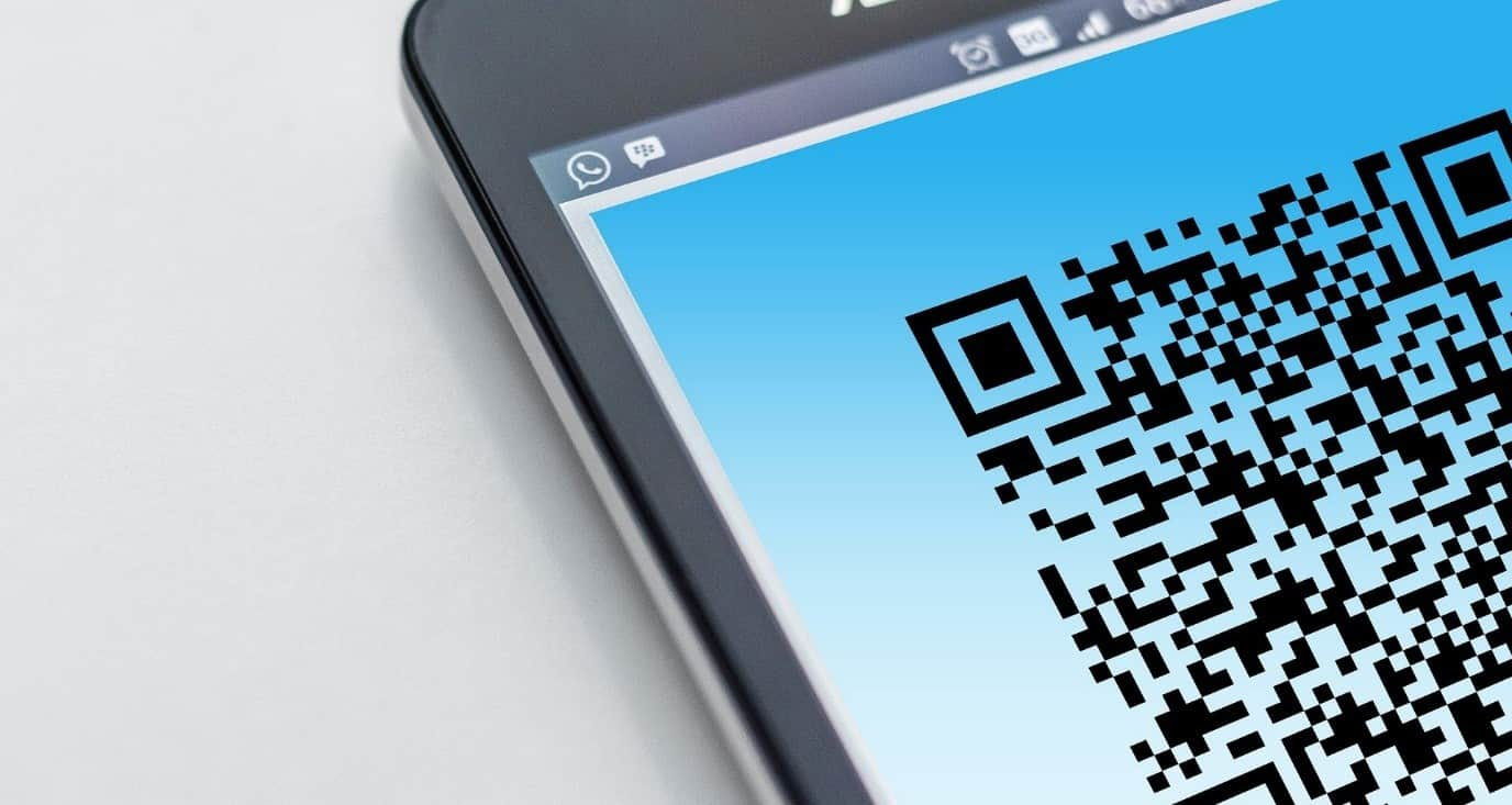 Codice QR su dispositivo mobile
