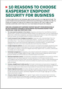 10 motivi per acquistare Kaspersky Endpoint Security for Business