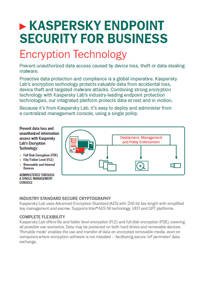 KASPERSKY ENDPOINT SECURITY FOR BUSINESS. TECNOLOGIA DI CRITTOGRAFIA - SCHEDA TECNICA