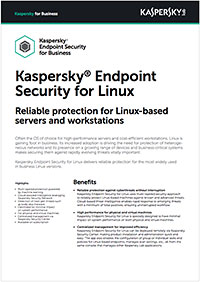 KASPERSKY SECURITY FOR LINUX - SCHEDA TECNICA