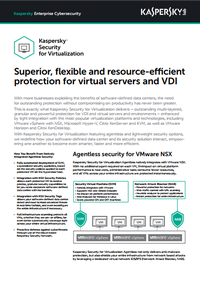 Kaspersky Security for Virtualization - Scheda tecnica